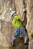 Climber going for it. — Stock Photo