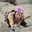 Female rock climber. — Stock Photo #5560560