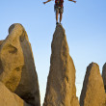 Rock climber on the summit. — Stock Photo #5647212