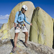 Climber rappelling. — Stock Photo #5647327