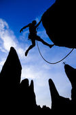 Male rock climber. — Stock Photo