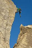 Female rock climber. — Stock Photo