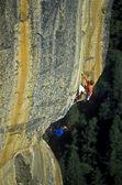 Team of rock climbers. — Stock Photo
