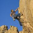 Rock climber dangling. — Stock Photo #5896364
