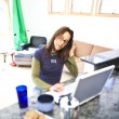 Working at home. — Stock Photo