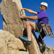 Male rock climber. - 