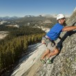 Male rock climber. - Foto Stock