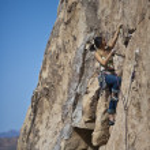 Female rock climber. — Stock Photo #5939104