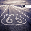 Historic Route 66. - Stock Photo