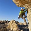 Rock climber clinging to a cliff. — Stock Photo #5940350