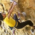 Female rock climber. — Stock Photo #5940921