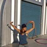 pratiques de femme avec son cerceau — Photo