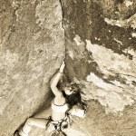 Female rock climber. — Stock Photo #5957023