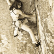 Female rock climber. — Stock Photo #5957126