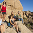 Stock Photo: Group of women hiking.