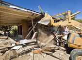 House being demolished. — Stock Photo