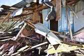 House being demolished. — Stock Photo