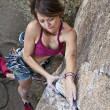 Female rock climber. — Stock Photo #6446369