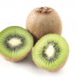Royalty-Free Stock Photo: One kiwi and another cuted kiwi