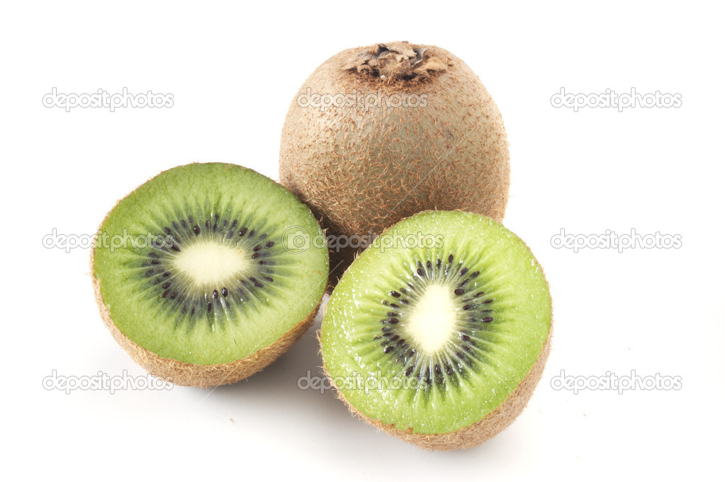 Kiwi isolated over white background — Stock Photo #5563101