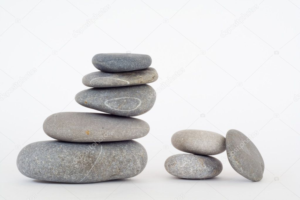 Pile of balanced stones like a symbol of zen concept — Stock Photo #5576985
