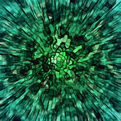 Malachite explosion — Stock Photo