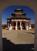 Buddhist monastery in Atsagat — Stock Photo