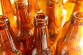 Empty bottles of beer — Stock Photo
