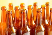 Empty bottles of beer — Стоковое фото