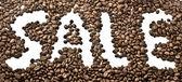 咖啡销售短语 — 图库照片