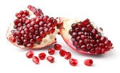 Part of pomegranate and seeds — Stock Photo