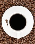 Coffee cup view from top — Stock Photo