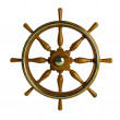 Wooden boat wheel  — Stock Photo