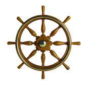 Wooden boat wheel — Stock Photo