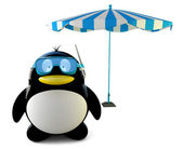 Summer penguin — Stock Photo