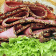 Stock Photo: Beef pastrami sandwich