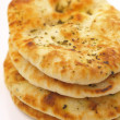 Stack of indian naan bread — Stock Photo