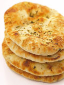 Stack of indian naan bread — Stok fotoğraf