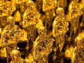 Array of golden statues — Stockfoto
