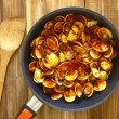 Pan of chili clams — Stock Photo