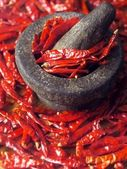 Dried red chilies — Stok fotoğraf
