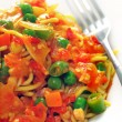 Stock Photo: Asifried noodles in sweet and spicy sauce