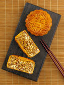 Mixed nut mooncake — Stock Photo