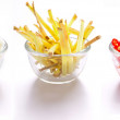Garlic, ginger and red chilies — Stock Photo