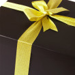 Black gift box — Stock Photo