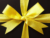 Gift box gold ribbon — Stock Photo