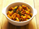 Spicy curry potatoes — Stok fotoğraf