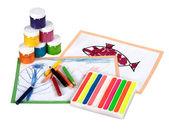 Children's creativity — Stock Photo