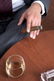 Smoking cigar — Stock Photo