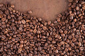 Coffee beans on a dark background — Stock Photo